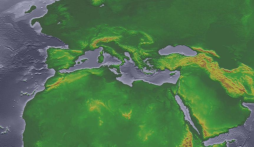 Il Mediterraneo al culmine dell'ultima glaciazione